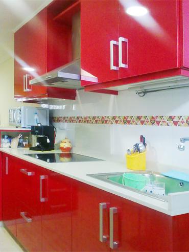 Cocina rojo ferrari | Muebles a medida | Armarios | Cocinas | Baños ...